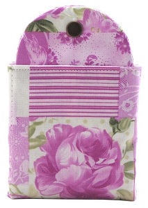 Tea Wallet - Patchwork Rose Fuschia