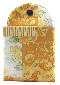 Tea Wallet - Patchwork Rose Yellow