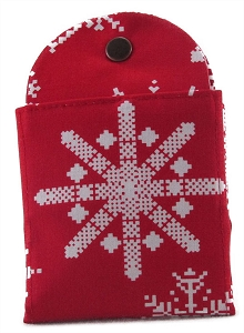 Tea Wallet - Snowflake Red