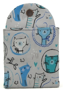 Tea Wallet - Kitty Blue