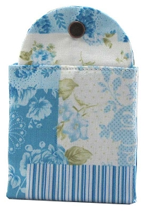 Tea Wallet - Patchwork Rose Blue