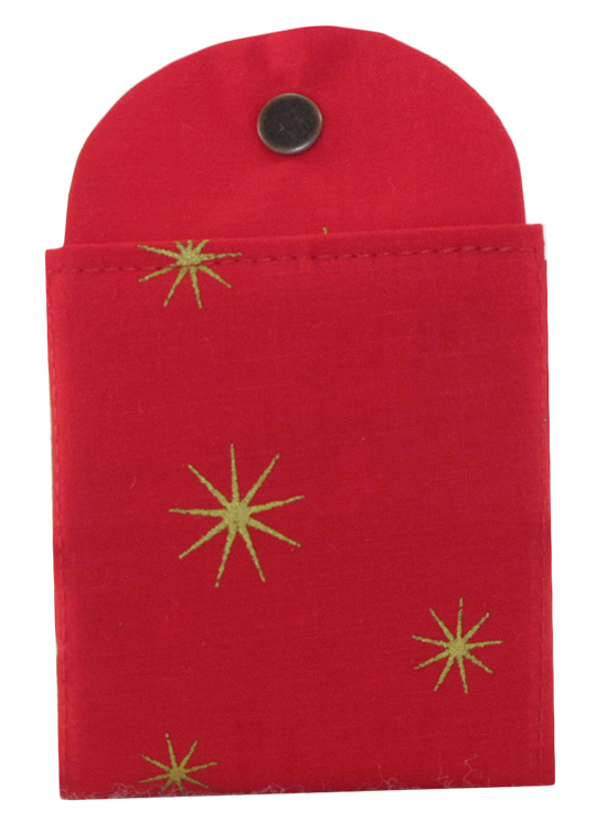 Tea Wallet - Holiday Stars - Red