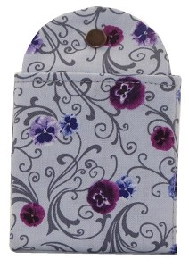 Tea Wallet - Perfect Pansies