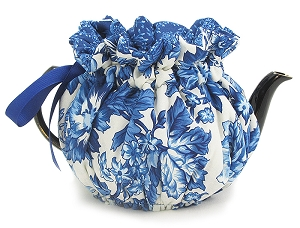 Wrap Around Tea Cozy 2 Cup Autumn Blue