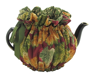 Wrap Around Tea Cozy 6 Cup Autumn Leaves