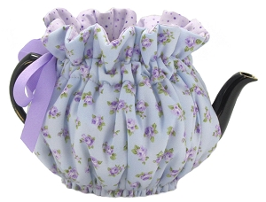 Wrap Around Tea Cozy 2 Cup Baby Mauve Roses