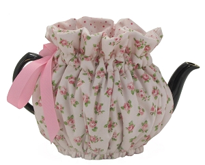 Wrap Around Tea Cozy 2 Cup Baby Pink Roses