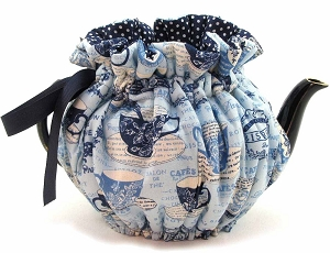 Wrap Around Tea Cozy 4 Cup Delft Bistro