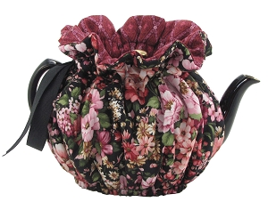 Wrap Around Tea Cozy 4 Cup Ebony Garden