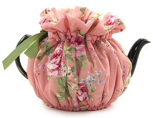 Wrap Around Tea Cozy 4 Cup English Rose Pink