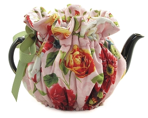 Wrap Around Tea Cozy 8 Cup Flemish Flowers
