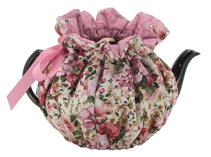 Wrap Around Tea Cozy 4 Cup Ivory Garden