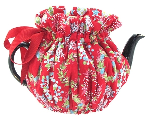 Wrap Around Tea Cozy 4 Cup Xmas - Modern Christmas
