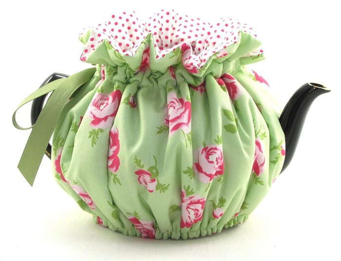 Wrap Around Tea Cozy 2 Cup Rose Mint