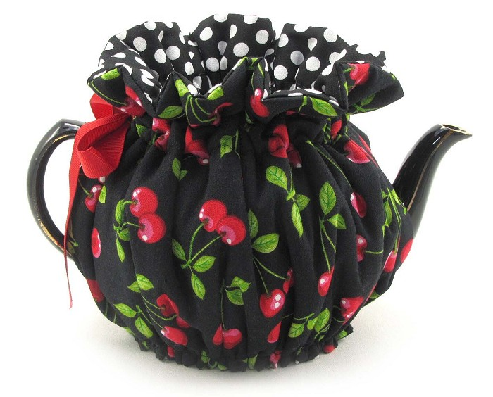 Wrap Around Tea Cozy 6 Cup Cherries