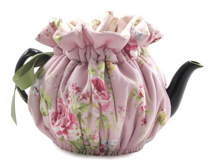 Wrap Around Tea Cozy 2 Cup English Rose Lavender