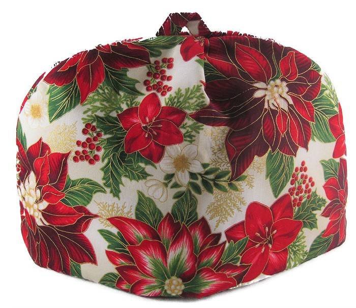 Classic Tea Cozy 6/8 Cup Painted Poinsettia