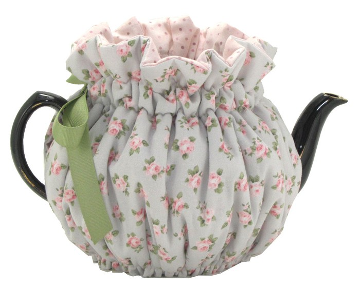 Wrap Around Tea Cozy 2 Cup Baby Blue Roses