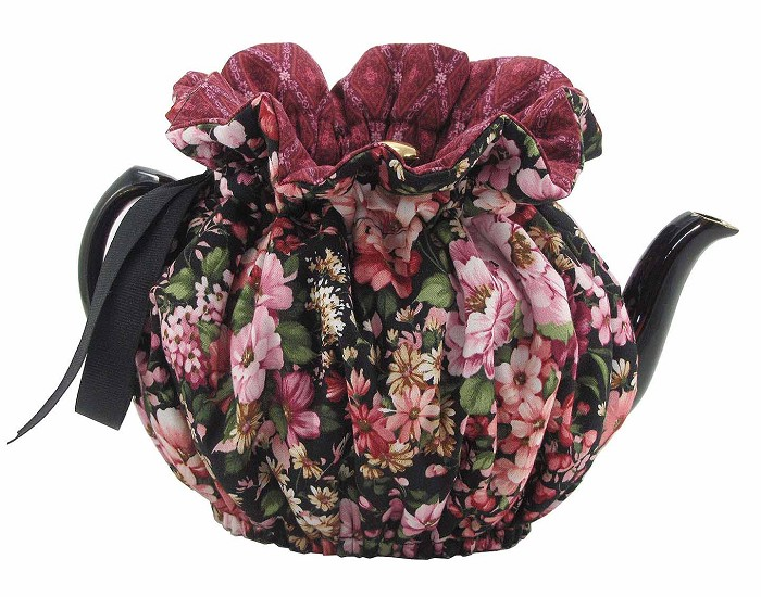 Wrap Around Tea Cozy 6 Cup Ebony Garden