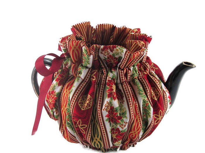 Wrap Around Tea Cozy 4 Cup Holiday Medley