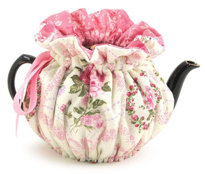 Wrap Around Tea Cozy 4 Cup Pink Parlor