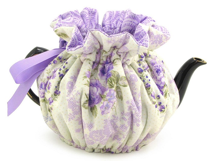 Wrap Around Tea Cozy 4 Cup Purple Parlor